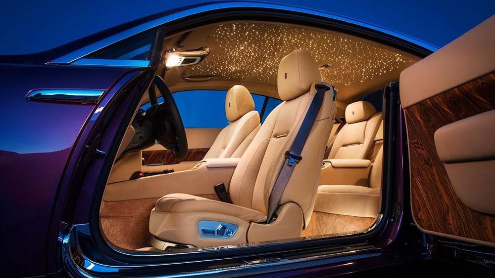 Araç İçi Fiber Optik Aydınlatma - Rolls Royce
